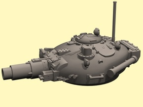 28mm T-72 style Invader turret in White Processed Versatile Plastic