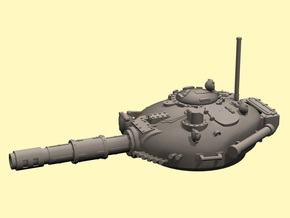 28mm T-72 style turret in White Processed Versatile Plastic