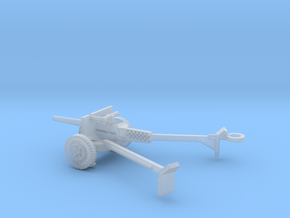 1/87 Scale M3 37mm Anti Tank Gun Deployed in Smooth Fine Detail Plastic