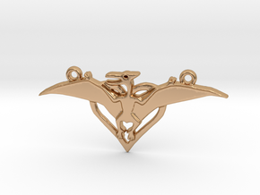 Pteradactyl pendant double hanger in Polished Bronze