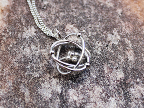 Atomic Model Pendant in Polished Silver