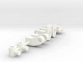 Alpha Figure 2 in White Processed Versatile Plastic