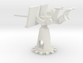 1/48 Scale 20mm Gun Mount Mk6 in White Natural Versatile Plastic
