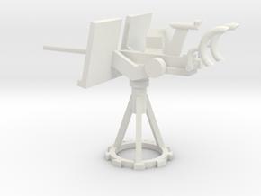 1/48 Scale 20mm Gun Mount Mk10 in White Natural Versatile Plastic
