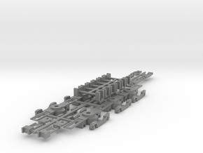 NSBS - Siemens Nexus Bogie Set - N Scale in Gray Professional Plastic
