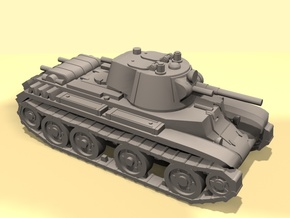 15mm BT-7 tank in Smooth Fine Detail Plastic
