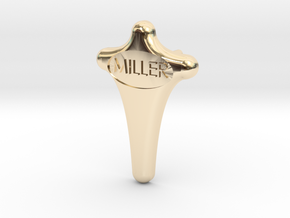 Miller Tie Tack Lapel Pin in 14k Gold Plated Brass