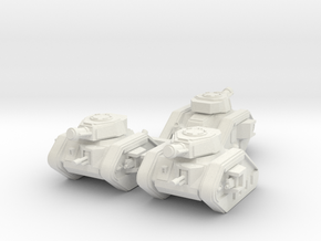 Epic 40K Leman Russ Demolisher Squadron in White Natural Versatile Plastic