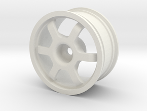 1/10 Volk TE37 Replica in White Natural Versatile Plastic