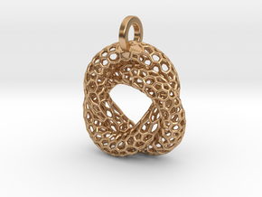 Knot Pendant in Polished Bronze