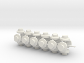 20883 Plug for Hornby Dublo plastic platforms x24 in White Natural Versatile Plastic