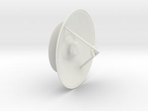 Printle Thing Satellite Receiver 1/24 in White Natural Versatile Plastic
