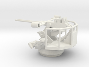 1/72 Scale Twin 40mm Bofor Mk3 in White Natural Versatile Plastic