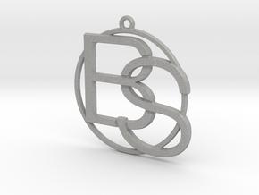 B&S Monogram in Aluminum