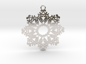 Ornamental pendant no.4 in Rhodium Plated Brass