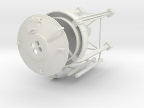 1/64th Concrete Cement Asphalt powder PVC silo in White Natural Versatile Plastic
