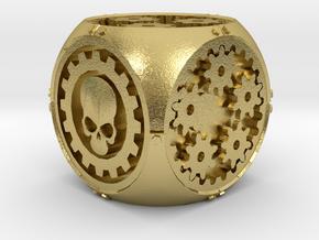 Gear Die in Natural Brass