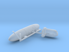 Wessex External Store Carrier and Fuel Tank (Port) in Smooth Fine Detail Plastic: 1:72