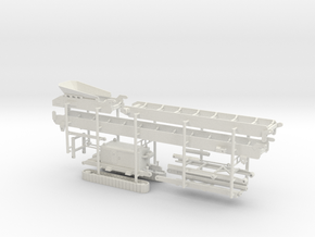 1/50th tracked folding conveyor belt in White Natural Versatile Plastic