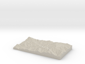 Model of Mazra'eh-ye Ẕīnū in Natural Sandstone