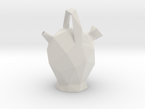 Botijo Low Poly in Matte Full Color Sandstone
