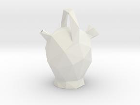 Botijo Low Poly in White Natural Versatile Plastic