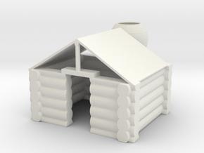 LOG CABIN in White Natural Versatile Plastic
