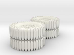 All Terrain Wheels double axle x2 #3 in White Natural Versatile Plastic