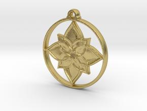 Lotus IV Pendant in Natural Brass