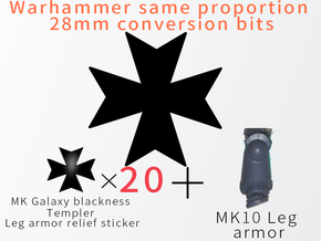 MK Galaxy blackness Templer Leg armor relief stick in Smooth Fine Detail Plastic