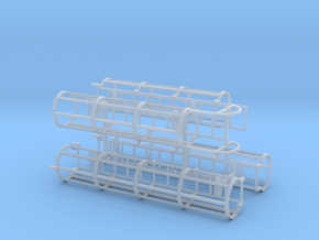 1/64th Safety Cage Industrial Ladder in Smooth Fine Detail Plastic