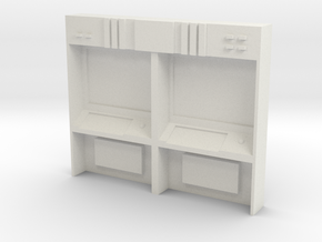 HO Scale Small Command Station in White Natural Versatile Plastic