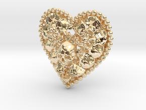 Heart Bone Pendant in 14k Gold Plated Brass