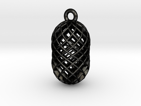 Seed Mesh Keyring in Matte Black Steel