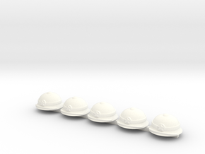 5 x Pith Helmet in White Processed Versatile Plastic