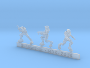 Scifi Spartans with SMGs Sprue in Smooth Fine Detail Plastic: 6mm