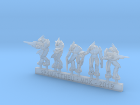 Alien Warriors in heavy armor sprue in Smooth Fine Detail Plastic: 6mm