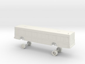 HO Scale Bus Gillig Low Floor GRTC 700s in White Natural Versatile Plastic
