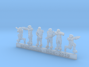 Scifi Marines Sprue B  in Smooth Fine Detail Plastic: 6mm