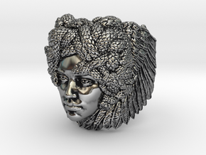 Medusa - Detailed Sterling Silver Ring in Antique Silver: 7 / 54