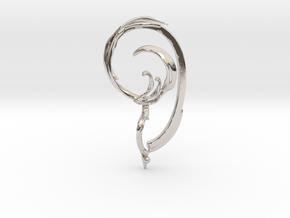 Fullcircle Earbone in Rhodium Plated Brass