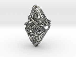 Dangerous Heavy - Sterling Silver Ring in Antique Silver: 7 / 54
