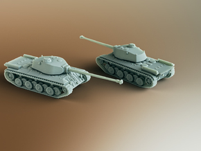 FCM 50T French Heavy Tank Scale: 1:285 in Smooth Fine Detail Plastic