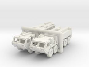 HEMTT Fire Fighting Convoy 1:220 (Z) scale in White Natural Versatile Plastic