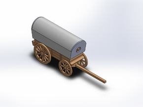 SUPPLY WAGON in White Natural Versatile Plastic