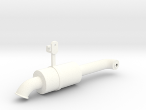 THM 00.5202 Exhaust pipe rear Tamiya Volvo FH12 in White Processed Versatile Plastic