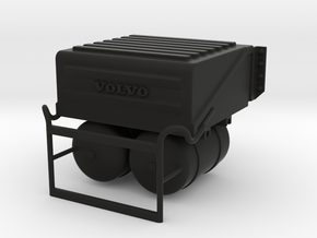 THM 00.5801 Battery box + step Tamiya Volvo FH12 in Black Natural Versatile Plastic