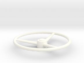 THM 07.0015 Old School steering wheel in White Processed Versatile Plastic
