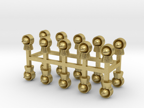 Torpedolüfter 20er Set Messing - 1:120 in Natural Brass