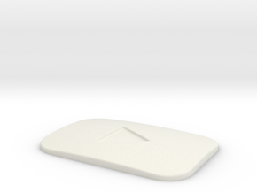 Youtube Play Button in White Natural Versatile Plastic